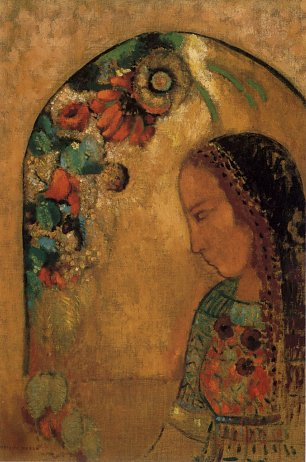 Odilon Redon Lady of the Flowers