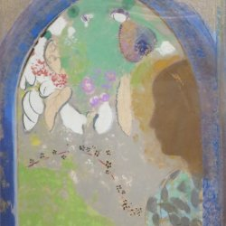 Odilon-Redon-Profile-of-a-Woman-in-the-Window