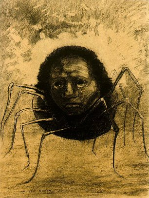 Odilon Redon The crying spider