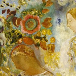 Odilon-Redon-Two-Young-Girls-among-Flowers