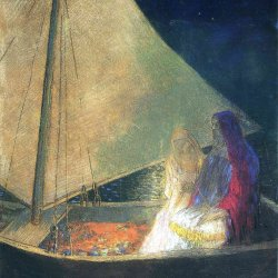 Odilon-Redon-boat-with-two-figures-1902