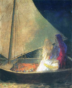 Odilon Redon boat with two figures 1902