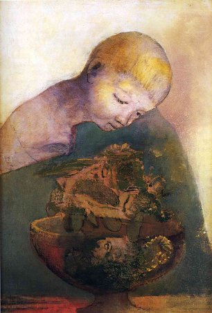 Odilon Redon cup of cognition Wandbild