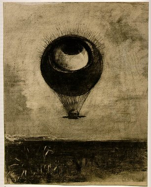 Odilon Redon eye balloon Wandbild