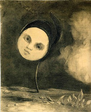 Odilon Redon head on a stem Wandbild