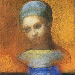Odilon-Redon-small-bust-of-a-young-girl