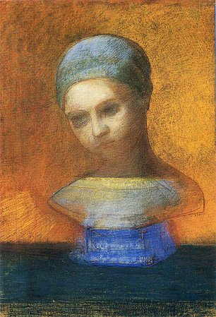 Odilon Redon small bust of a young girl