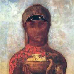Odilon-Redon-the-cup-of-mystery