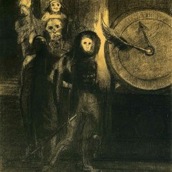Odilon-Redon-the-mask-of-the-red-death-1883