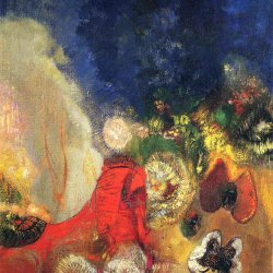 Odilon-Redon-the-red-sphinx