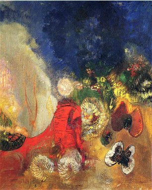Odilon Redon the red sphinx