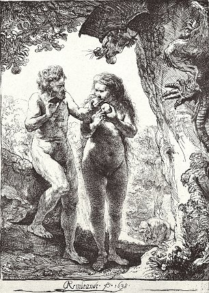 Rembrandt van Rijn Adam und Eva Wandbilder