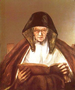 Rembrandt van Rijn Alte Frau lesend Wandbilder