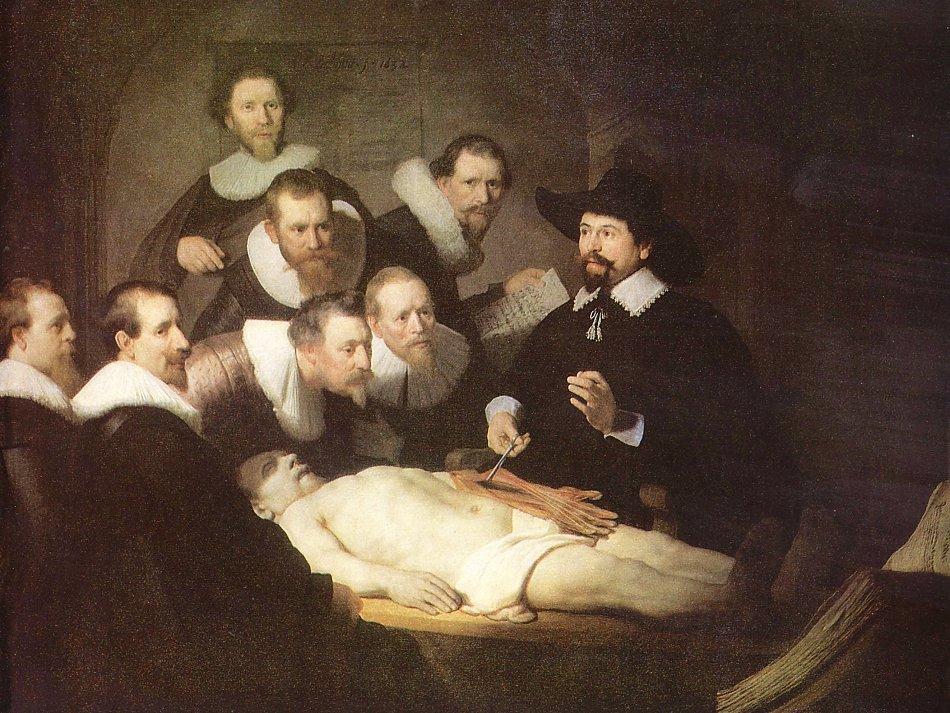 Rembrandt van Rijn Anatomie des Dr Tulp Bild auf Leinwand ...