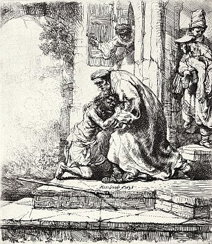 Rembrandt van Rijn Der verlorene Sohn Wandbilder
