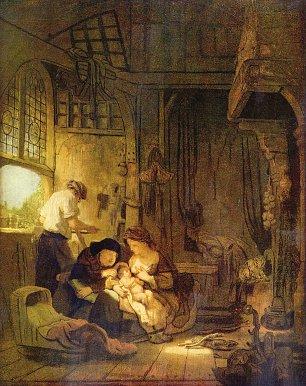 Rembrandt van Rijn Die Heilige Familie 1 Wandbilder