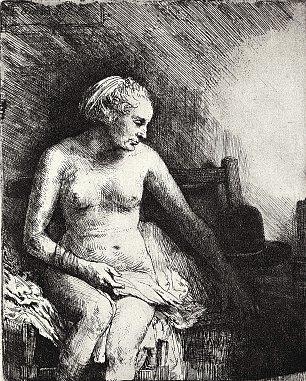 Rembrandt van Rijn Nackte Frau 2 Wandbilder