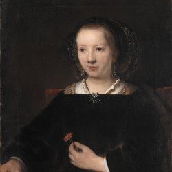Rembrandt-van-Rijn-Young-Woman-with-a-Carnation