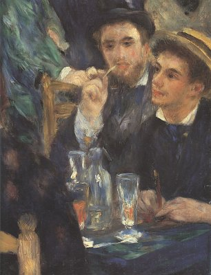 Auguste Renoir Der Ball im Moulin de Galette Detail Wandbilder