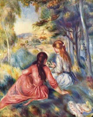 Auguste Renoir Junge Maedchen auf der Wiese Wandbilder
