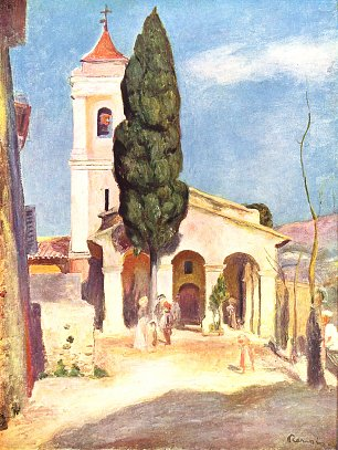 Auguste Renoir Kirche in Cagnes