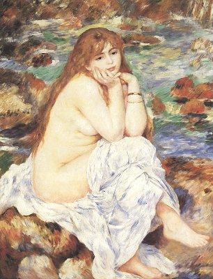 Auguste Renoir Sitzender Badegast 1 Wandbilder