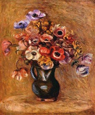 Auguste Renoir Stillleben mit Anemonen Wandbilder