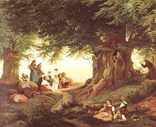 Ludwig Richter Abendandacht im Walde Wandbilder