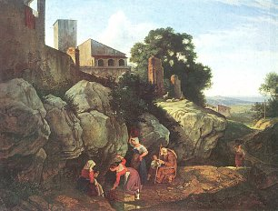 Ludwig Richter Ariccia 2 Wandbilder