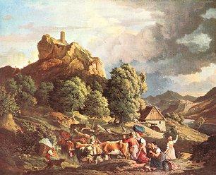 Ludwig Richter Der Schreckenstein bei Aussig Wandbilder