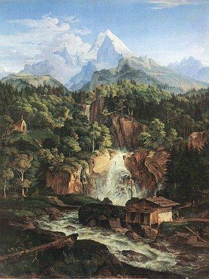 Ludwig Richter Der Watzmann Wandbilder