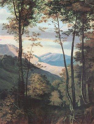 Ludwig Richter Rocca di Mezzo im Sabinergebirge Detail 2 Wandbilder