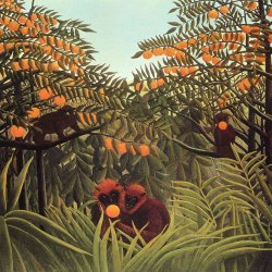Henri-Rousseau-Apes-in-the-orange-grove