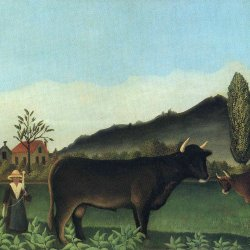 Henri-Rousseau-landscape-with-cow
