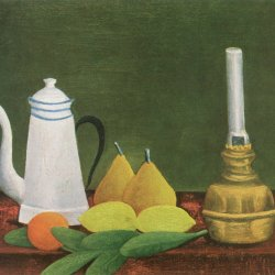 Henri-Rousseau-still-life-with-teapot-and-fruit