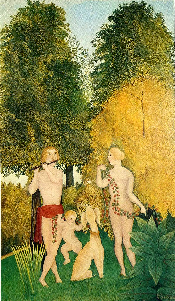 Henri Rousseau the happy quartet