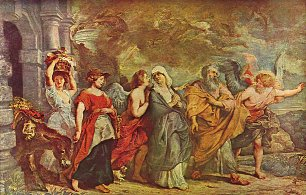 Rubens Flucht Lots Wandbilder