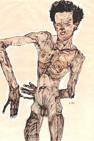 Egon Schiele Maennlicher Akt SelbstPortraet Wandbilder