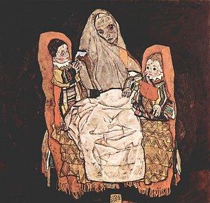 Egon Schiele Mutter mit zwei Kindern Die Mutter Wandbilder