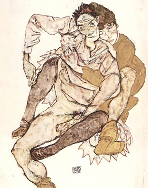 Egon Schiele Sitzendes Paar Wandbilder