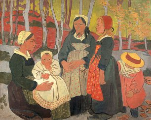 Paul Serusier Bretons in the Forest of Huelgoat Wandbild