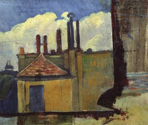Paul Serusier Roof Tops in Paris Wandbild