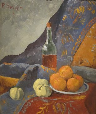 Paul Serusier Still Life with Bottle and Fruit Wandbild
