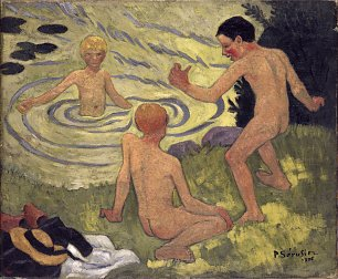 Paul Serusier boys on a river bank Wandbild