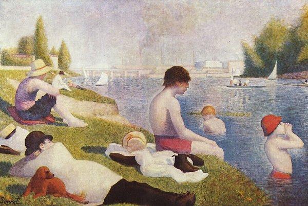 Georges Seurat Badeplatz in Asnieres