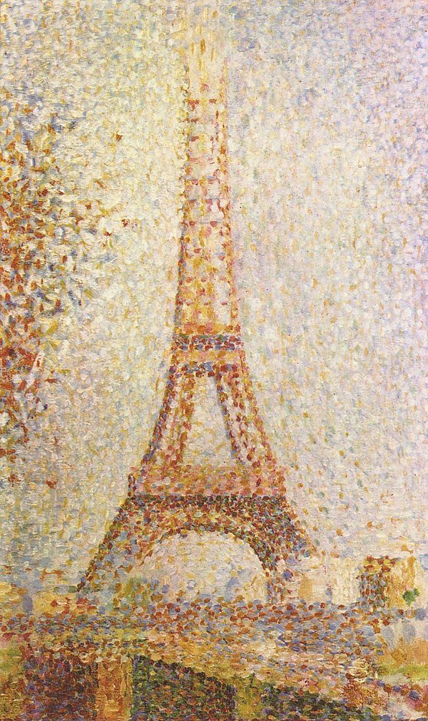 Georges Seurat Der Eiffelturm
