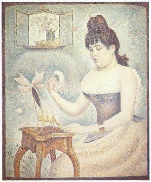 Georges Seurat Die Frau mit der Puderquaste Wandbilder
