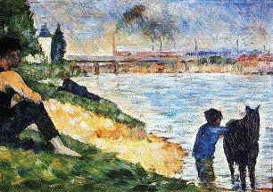 Georges Seurat Ein Badeplatz in Asnieres Studie Wandbilder