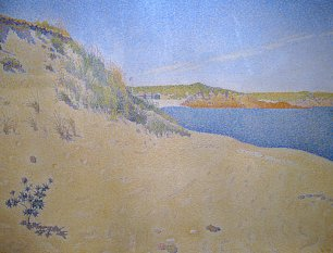 Paul Signac Beach at Saint Briac Wandbild