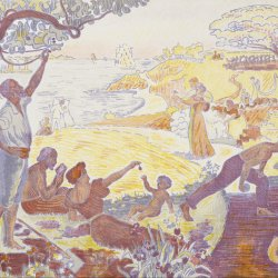 Paul-Signac-In-the-Time-of-Harmony-The-Joy-of-Life-Sunday-by-the-Sea